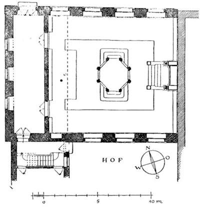 Grundriss der Ansbacher Barocksynagoge